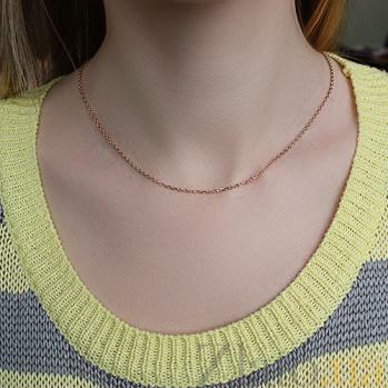 Серебряная цепочка позолоченная Имидж, 1мм 000039019