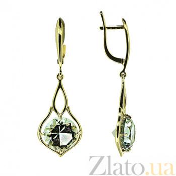Золотые серьги с празиолитом Кливия ZMX--EPras-6782y_K