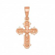 Крестик из красного золота Умиротворение