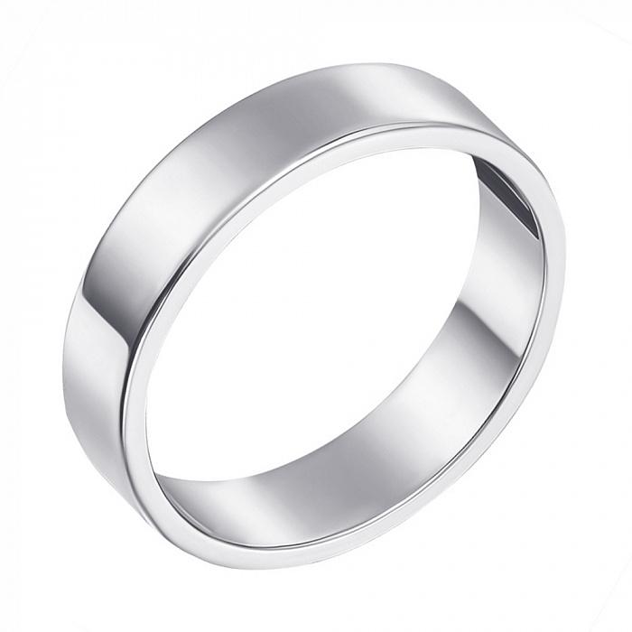 Обручальное кольцо из белого золота 000000370 10105бел