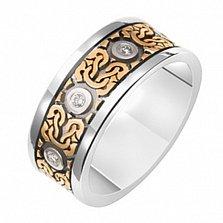 Обручальное кольцо с бриллиантами Романский стиль