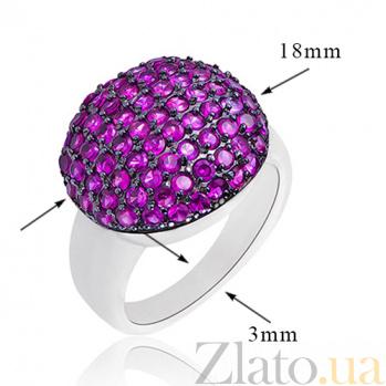 Серебряное кольцо Лиловый плен с кристаллами Swarovski 10000027