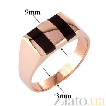 Золотое кольцо-печатка с эмалью Керим ONX--к00922