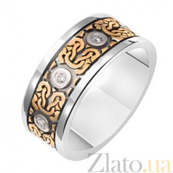 Обручальное кольцо с бриллиантами Романский стиль KBL--К1578/комб/брил