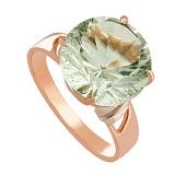 Золотое кольцо с зеленым аметистом Гиана