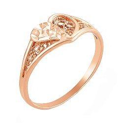Кольцо из красного золота 000006110