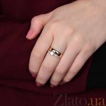Кольцо из желтого золота с фианитами Валетта 000023226