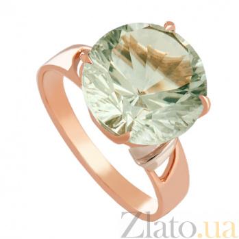 Золотое кольцо с зеленым аметистом Гиана VLN--112-277-5