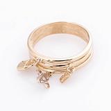 Золотое кольцо Летнее настроение с подвесками в стиле Луи Виттон