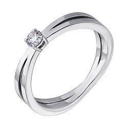 Кольцо из белого золота с бриллиантом, 0.14ct 000045811