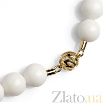 Ожерелье из белого агата Ванильное небо SG--59454030АГ_бел