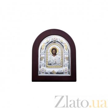 Серебряная икона с позолотой Иисус Христос AQA-MA/E3107DX