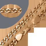 Золотой браслет Беатриче, 10мм