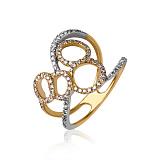 Золотое кольцо Магия кружев с бриллиантами