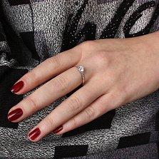 Кольцо из белого золота Оливия с фианитами