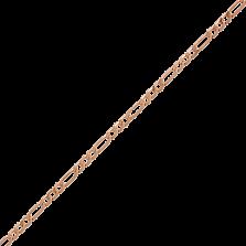 Золотая цепь Дижон плетения картье, 1,5мм