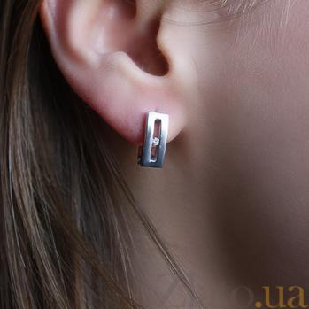 Серебряные серьги с бриллиантами Марсель 79200699
