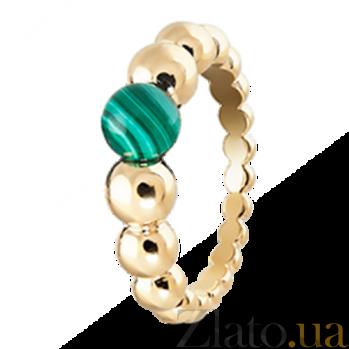 Кольцо из желтого золота с малахитом Perlée R-VCA-Perlée-E-malachite