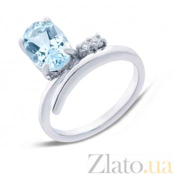 Серебряное кольцо с топазом Колокольчик AQA--R01535T