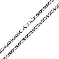 Серебряная цепь Ручей в плетении бисмарк, 4мм