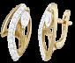 Позолоченные серьги из серебра с цирконием Эйфория SLX--С3Ф/071