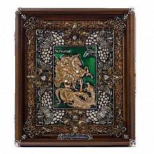 Икона Георгий Победоносец с эмалью и фианитами