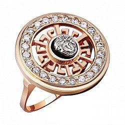 Кольцо из красного золота с фианитами в стиле Версаче 000001910