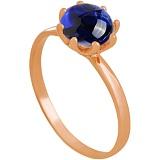 Золотое кольцо Фиеста с корундом