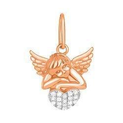 Серебряный подвес с цирконием Ангел любви 000034068