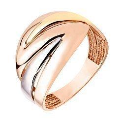 Золотое кольцо в комбинированном цвете 000117026