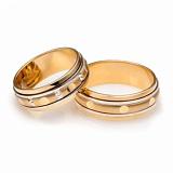 Обручальные кольца из комбинированного золота Идеальная пара