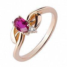 Кольцо из красного золота с рубином Таинственный взгляд