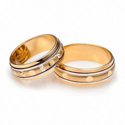 Обручальное кольцо из комбинированного золота Идеальная пара