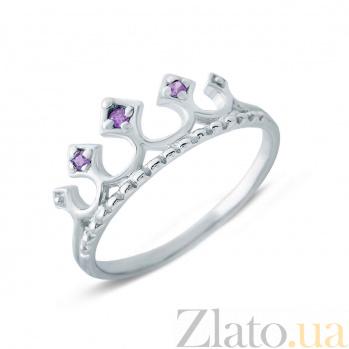 Серебряное кольцо с фианитами Корона AQA--213560001