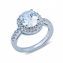 Серебряное кольцо с цирконом Пенелопа