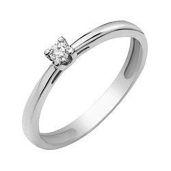 Кольцо из белого золота с бриллиантом 000098511