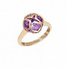 Кольцо из розового золота с аметистом Imperiale, малая модель