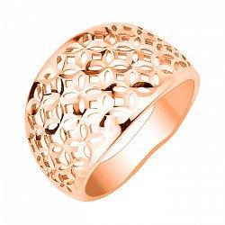 Кольцо из красного золота с алмазной гранью 000113466