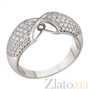 Золотое кольцо Намек с фианитами SVA--1195632/Фианит/Цирконий
