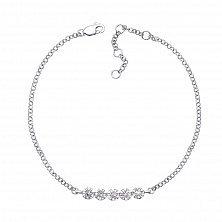 Золотой браслет Идеал в белом цвете с бриллиантами