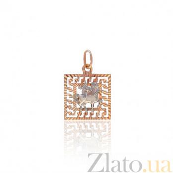 Золотая подвеска Стрелец EDM--П0111/12