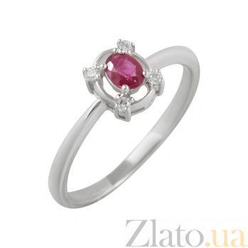 Золотое кольцо с рубином и бриллиантами Предсказание 000026847