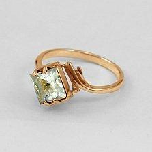 Золотое кольцо с зеленым аметистом Ирэна