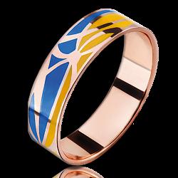 Кольцо из красного золота Молись за Украину мужское 000018664