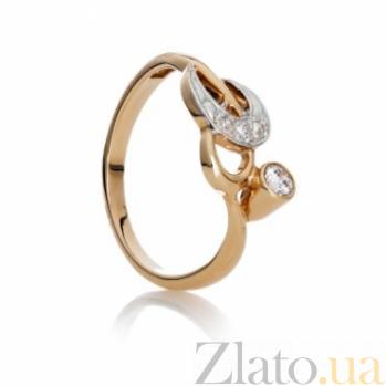 Женское золотое кольцо с фианитом Амбер SG--69410100
