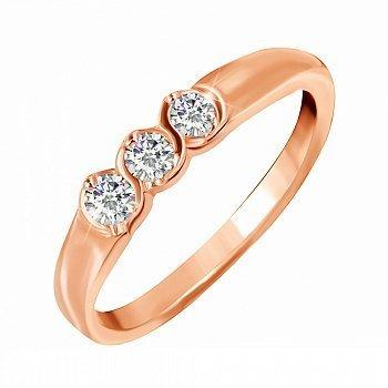 Серебряное кольцо с цирконием 000028386