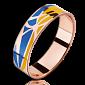 Кольцо из красного золота Молись за Украину мужское PRT--WR1602M