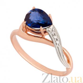 Золотое кольцо с сапфиром и бриллиантами Лаздона VLN--122-1513-14