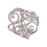 Золотое кольцо с бриллиантами Кристина