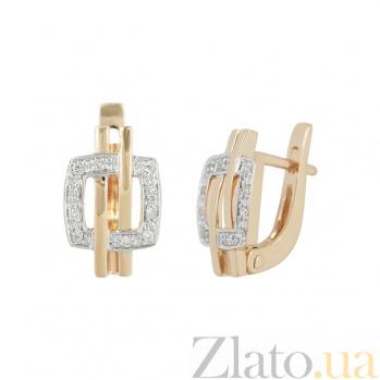 Золотые серьги с бриллиантами Джеки 1С191-0025